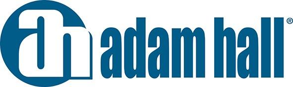 Adam hall logo blue