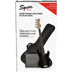 Squier Affinity Precision Bass PJ Bass Starter Pack in Black