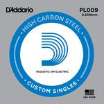 D'Addario PL009 Plain Steel Guitar Single String, .009
