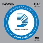 D Addario PL011 Plain Steel Guitar Single String, .011