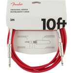 Fender Original Series Instrument Cable 10ft Fiesta Red