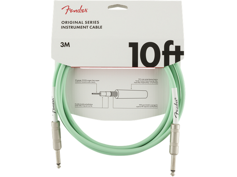 Fender Original Series Instrument Cable 10ft Surf Green