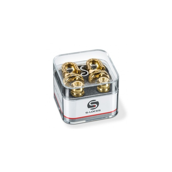 Square schaller s locks strap locks gold