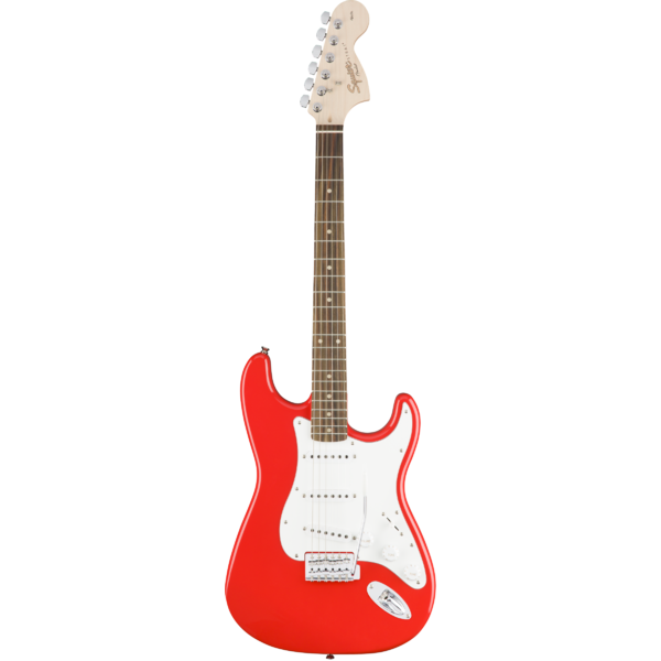Square squier affn strat r.red lb8