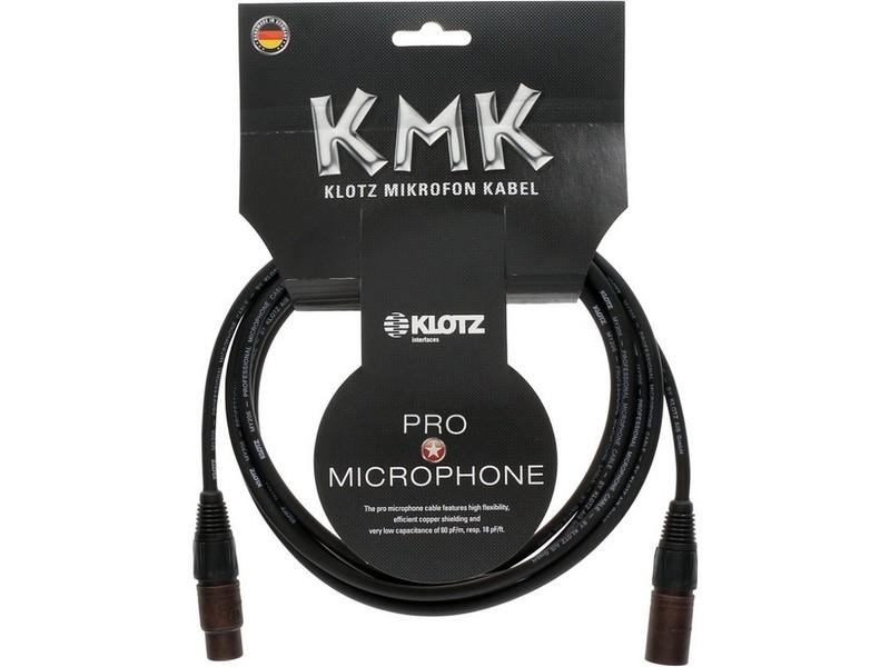 Klotz M1FM1K KMK Pro Microphone Cable with Neutrik Compound XLR - 3 Metre - Black