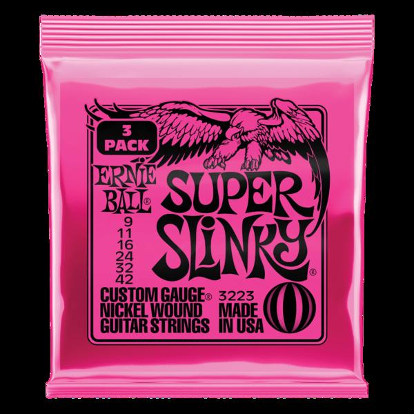 Square ernie ball super slinky 9 42 3 pack p03223