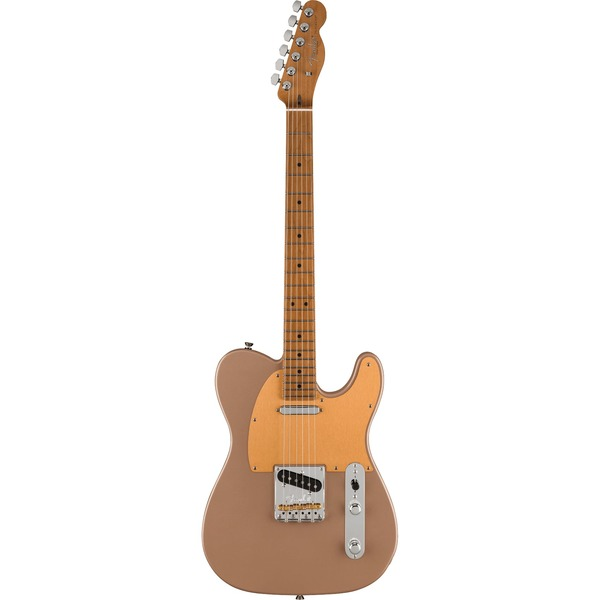 Square 458345 fender limited edition american professional ii telecaster shoreline gold roasted maple neck