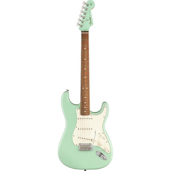 Square 458236 fender limited edition player stratocaster surf green matching headstock
