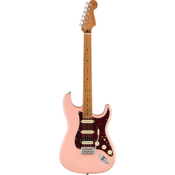 Square 458229 fender limited edition player stratocaster hss shell pink roasted maple neck
