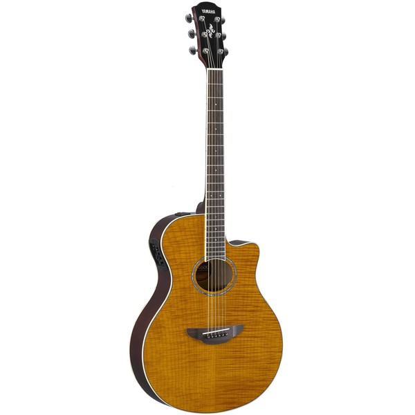Square yamaha apx600fm acoustic guitar amber  2