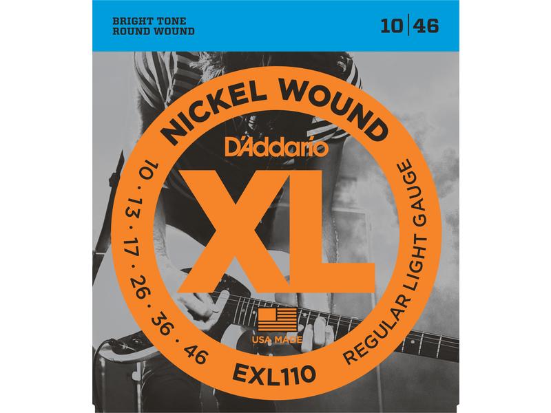 D'Addario EXL110 Nickel Wound Electric Guitar Strings Regular Light 10-46