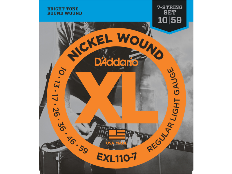 d 39 addario exl110 7 7 string nickel wound electric guitar strings regular light 10 59 cookes. Black Bedroom Furniture Sets. Home Design Ideas