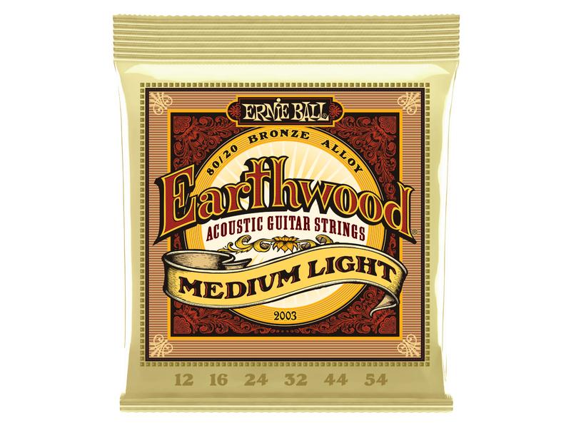 Ernie Ball Earthwood Medium Light 80/20 Bronze 12-54